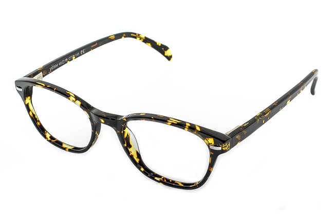 """Una montatura degli occhiali Giorgio Valmassoi in stile """"animalier"""""""