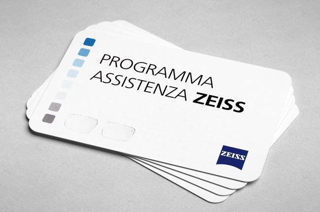 """Le tessere del """"programma assistenza Zeiss"""""""