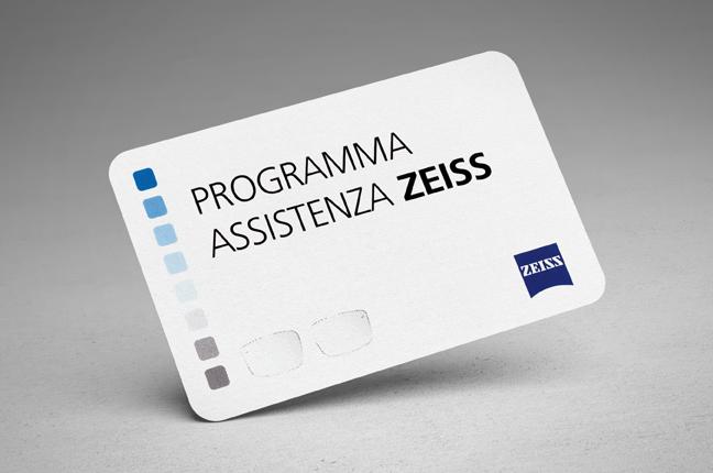 "La tessera del ""programma assistenza Zeiss"""