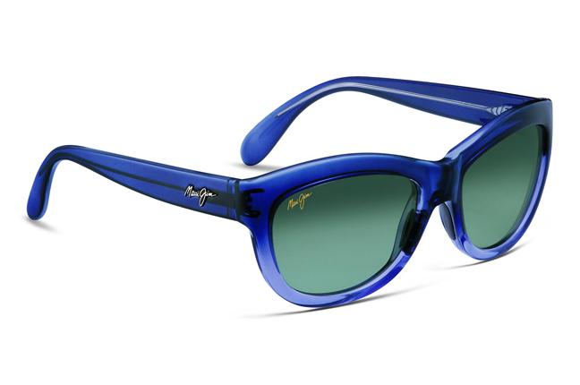 """Occhiali da sole Maui Jim: modello """"Kanani"""" con montatura rettangolare a forma di """"occhi di gatto"""""""
