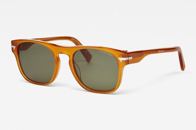 """Occhiali da sole """"Thin Holmer Sunglasses"""", un modello degli occhiali G-Star Raw dalla montatura rettangolare"""