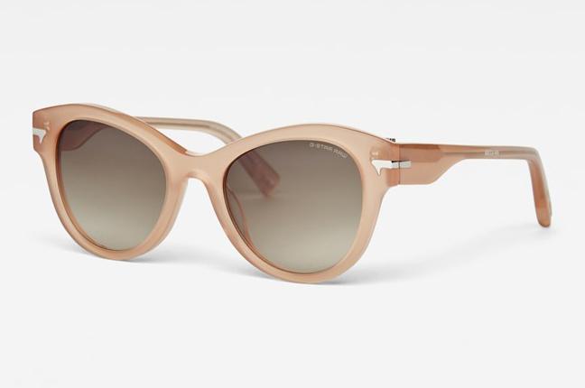 """Occhiali da sole """"Fat Oxlex Sunglasses"""", un modello degli occhiali G-Star Raw dalla montatura tonda (a """"farfalla"""")"""