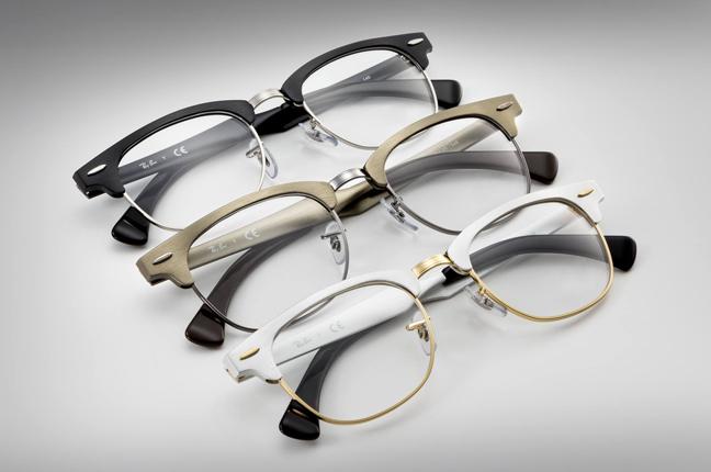 """Il modello che Ray-Ban ha reinventato in un'elegante versione in alluminio: occhiali da vista """"Clubmaster"""""""