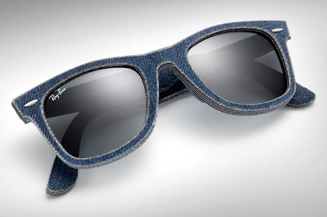 """Il modello che Ray-Ban ha rivestito con un jeans ultraresistente: occhiali da sole """"Wayfarer"""""""