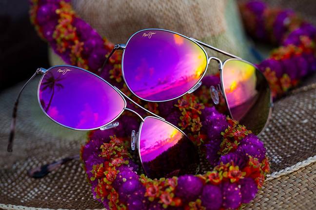 """Il modello """"MAVERICKS"""" della collezione """"Aviators"""" degli occhiali da sole Maui Jim"""