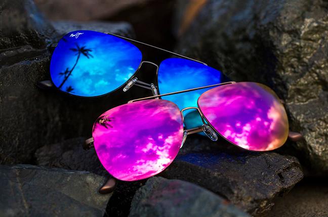 """Il modello """"CINDER CONE"""" della collezione """"Aviators"""" degli occhiali da sole Maui Jim"""