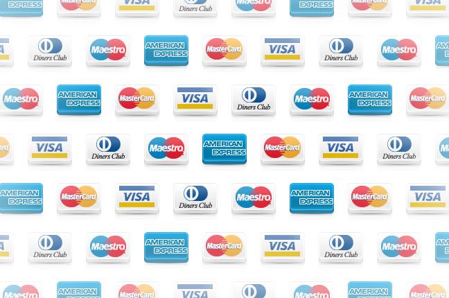 Le icone dei metodi di pagamento accettati da Ottica Galuzzi