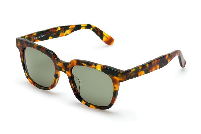 """Il modello """"PORTOFINO"""" degli occhiali Ross and Brown, nella versione """"PAPAYA LEAFS"""""""