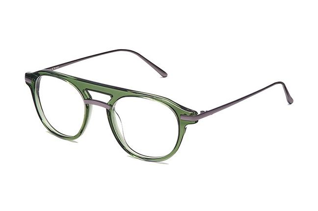 """Il modello """"TOKYO"""" degli occhiali Ross and Brown, nella versione """"MINT / MATT DARK GUN"""""""