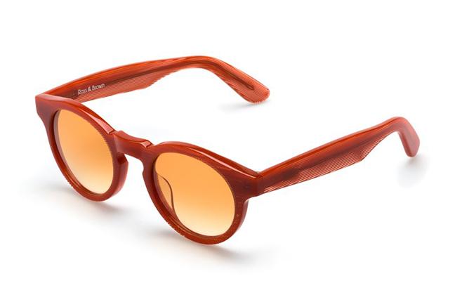 """Il modello """"HABANA"""" degli occhiali Ross and Brown, nella versione """"PSYCHO CORAL"""""""