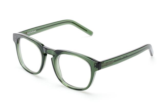 """Il modello """"MILANO"""" degli occhiali Ross and Brown, nella versione """"MINT CRYSTAL"""""""