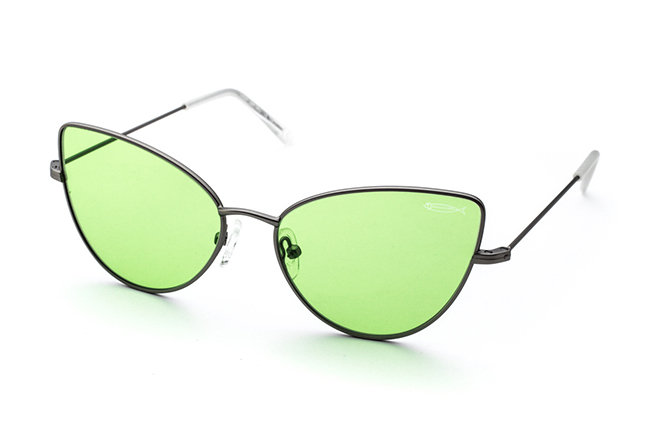 """Il modello """"GIADA"""" degli occhiali Saraghina, nella versione """"RUTENIO - LENTE COSMETICA VERDE"""""""