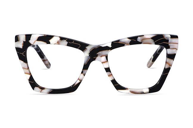 """Il modello """"Indie 3"""" degli occhiali JPlus, nella versione """"vista"""""""