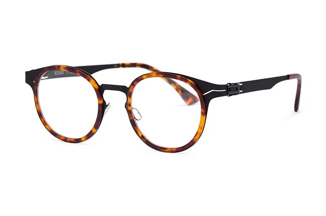 """Il modello """"BIG BEN"""" degli occhiali Roundten, nella versione """"Black Flextal & Havana Acetate"""""""