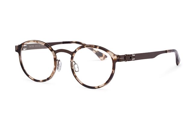 """Il modello """"BATLLO"""" degli occhiali Roundten, nella versione """"Copper Flextal & Havana Acetate"""""""