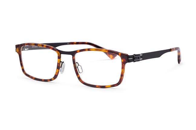 """Il modello """"BRANDENBURG"""" degli occhiali Roundten, nella versione """"Black Flextal & Havana Acetate"""""""