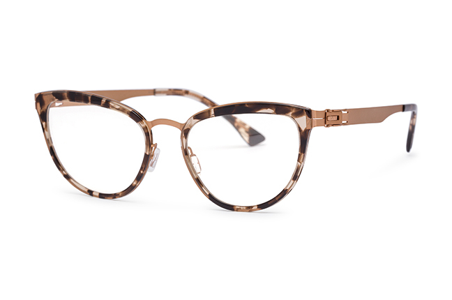 """Il modello """"OPERA"""" degli occhiali Roundten, nella versione """"Gold Flextal & Havana Acetate"""""""
