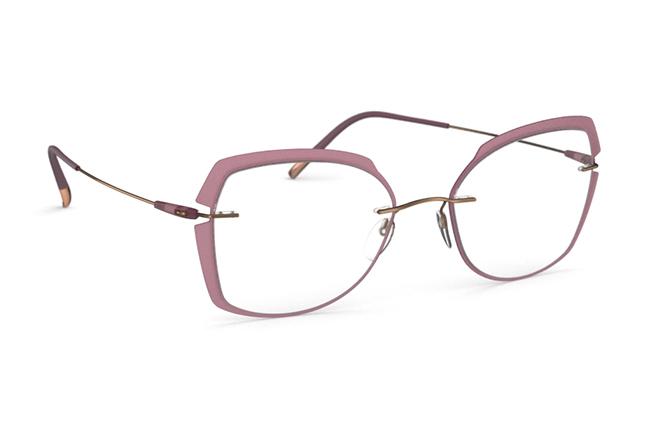 """Il modello """"Dynamics Colorwave - Accent Rings"""" degli occhiali Silhouette (Forma della lente: 5500 GW)"""