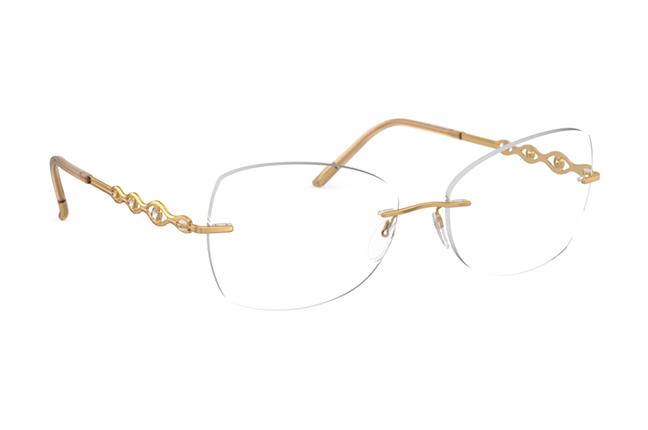 """Il modello """"Sparkling Diva"""" degli occhiali Silhouette (Forma della lente: 5526 GK)"""
