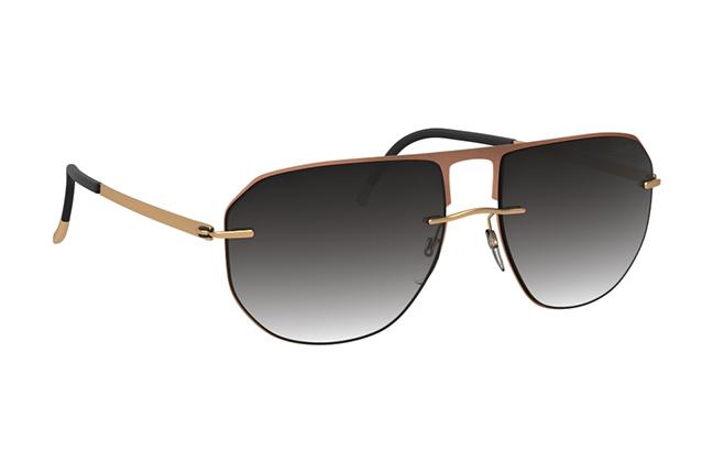"""Il modello """"Accent Shades"""" degli occhiali Silhouette (Forma della lente: 8704)"""