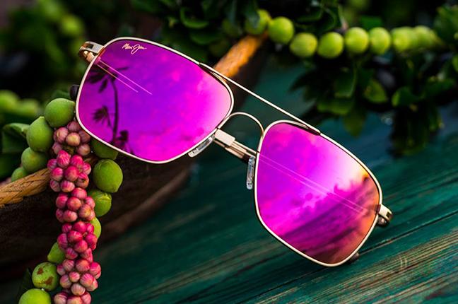 """Il modello """"HALEIWA"""" della collezione """"MAUI Sunrise"""" degli occhiali da sole Maui Jim"""