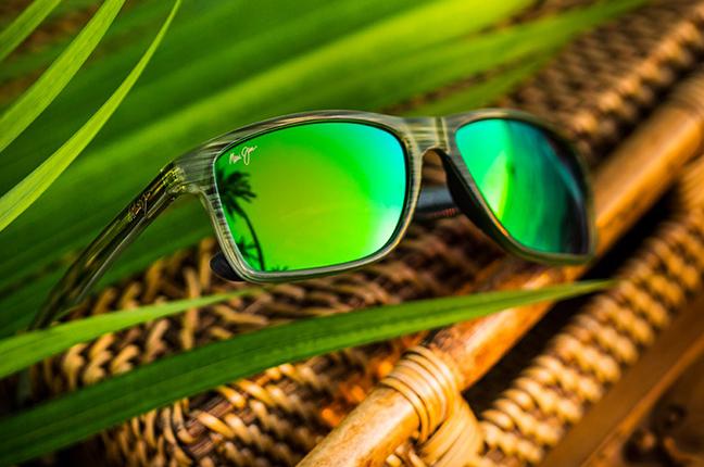 """Il modello """"ONSHORE"""" della collezione """"MAUI Green"""" degli occhiali da sole Maui Jim"""