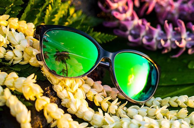 """Il modello """"'OLU 'OLU"""" della collezione """"MAUI Green"""" degli occhiali da sole Maui Jim"""
