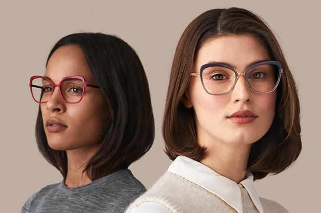 """Alma Loewe e Andréa Linnéa Emilia indossano occhiali Modo appartenenti alla collezione """"PAPER-THIN ACETATE"""""""
