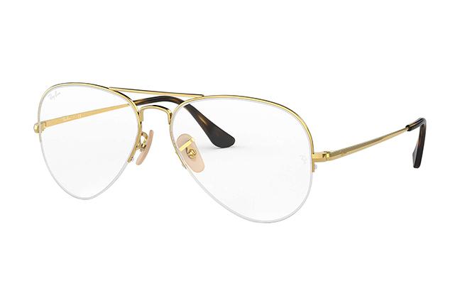 """Il modello """"AVIATOR GAZE"""" degli occhiali da vista Ray-Ban"""