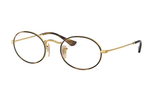 """Il modello """"OVAL OPTICS"""" degli occhiali da vista Ray-Ban"""