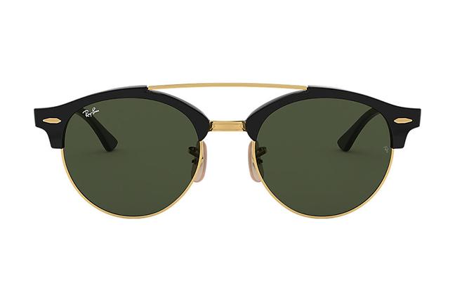 """Il modello """"CLUBROUND DOUBLE BRIDGE"""" degli occhiali da sole Ray-Ban"""