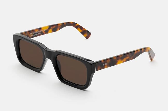 """Il modello """"Augusto Black Mark"""" degli occhiali SUPER by Retrosuperfuture®"""