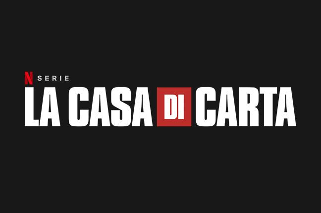 """Il logo de """"La Casa di Carta"""", serie televisiva spagnola trasmessa da Netflix"""