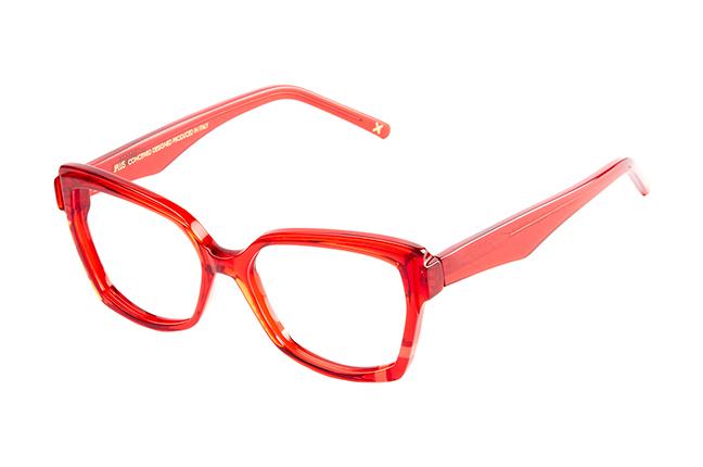 """Il modello """"ABIGAIL"""" degli occhiali da vista JPlus, nella variante colore """"Rosso"""""""