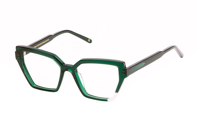 """Il modello """"CORINNE"""" degli occhiali da vista JPlus, nella variante colore """"Verde"""""""
