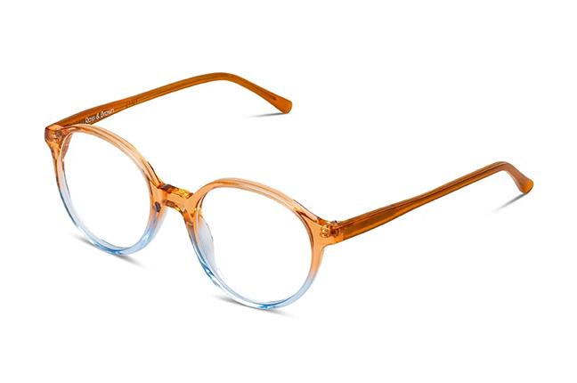 """Il modello """"CAPRI"""" degli occhiali Ross and Brown, nella versione """"Spring Peach"""""""