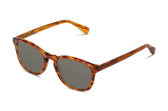 """Il modello """"HARVARD II"""" degli occhiali Ross and Brown, nella versione """"Caramel / Classic Green"""""""