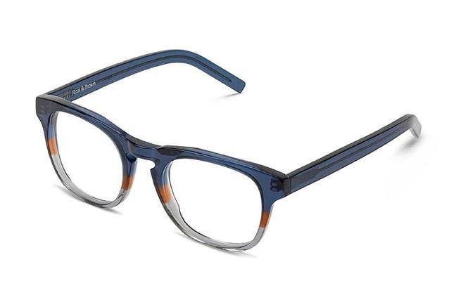 """Il modello """"MILANO"""" degli occhiali Ross and Brown, nella versione """"Paul Blue"""""""