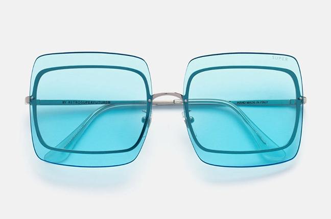 """Il modello """"Gia Baby Blue Bliss"""" degli occhiali SUPER by Retrosuperfuture®"""