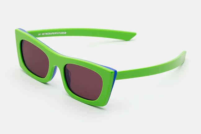 """Il modello """"Fred Lime"""" degli occhiali SUPER by Retrosuperfuture®"""