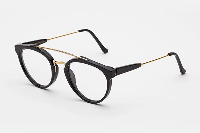 """Il modello """"Giaguaro Black Optical"""" degli occhiali SUPER by Retrosuperfuture®"""