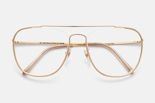 """Il modello """"Numero 47 Oro"""" degli occhiali SUPER by Retrosuperfuture®"""