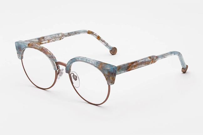 """Il modello """"Numero 30 Onice Azzurro"""" degli occhiali SUPER by Retrosuperfuture®"""