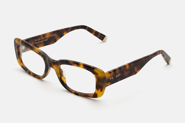 """Il modello """"Numero 75 Spotted Havana"""" degli occhiali SUPER by Retrosuperfuture®"""