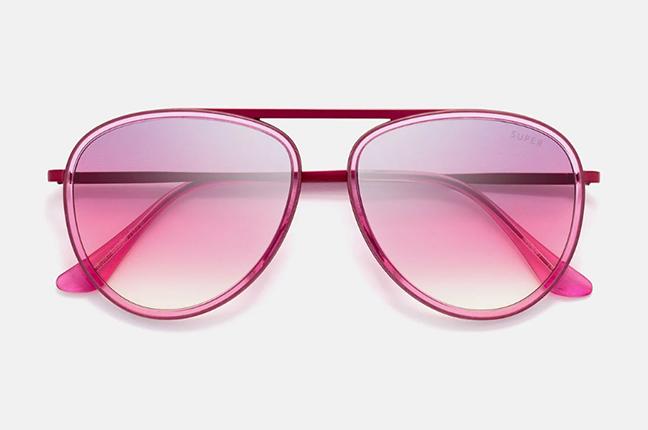 """Il modello """"Dokyu Fadeism Pink"""" degli occhiali SUPER by Retrosuperfuture®"""