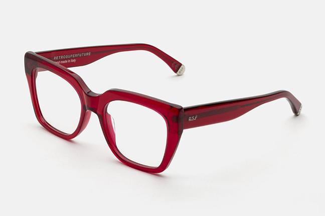 """Il modello """"Numero 76 Rosso Profondo"""" degli occhiali SUPER by Retrosuperfuture®"""