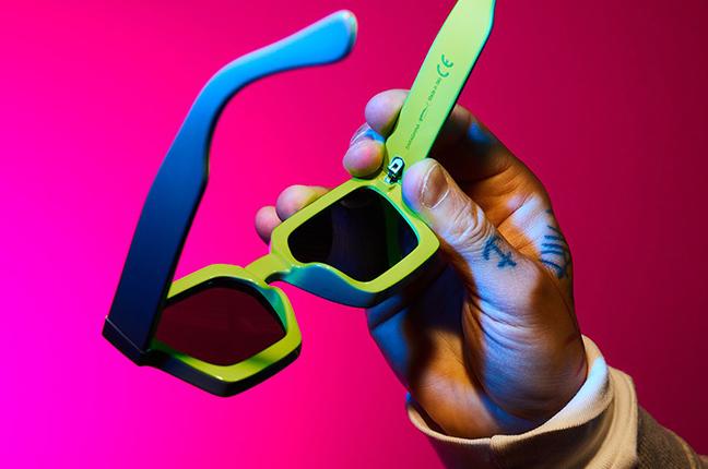 """Il modello """"DAMIAN"""" degli occhiali da sole Saraghina"""