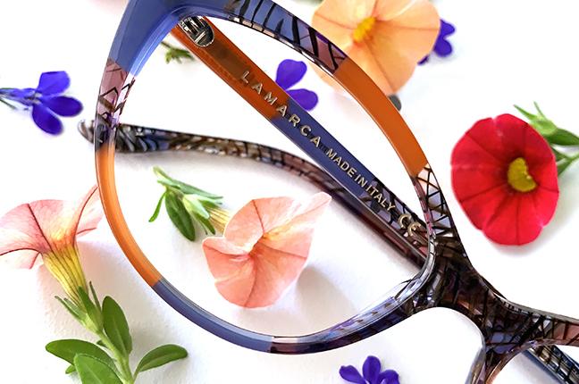 """Il modello """"84"""" degli occhiali Lamarca, appartenente alla collezione """"MOSAICO"""""""