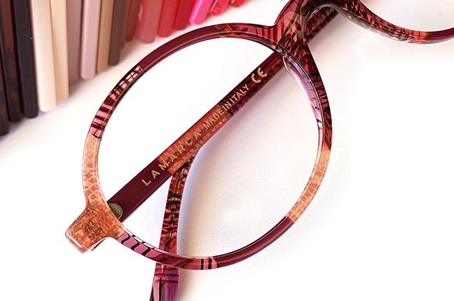 """Il modello """"88"""" degli occhiali Lamarca, appartenente alla collezione """"MOSAICO"""""""