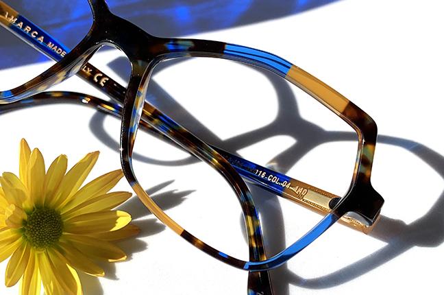 """Il modello """"109"""" degli occhiali Lamarca, appartenente alla collezione """"MOSAICO"""""""